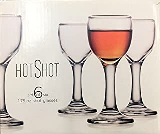 Home Essentials Stemmed Hot Shot Glass 2.25 oz Set of 6