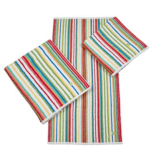 Ross Handtücher Multicolor-Streifen rot Handtuch 50x100 cm