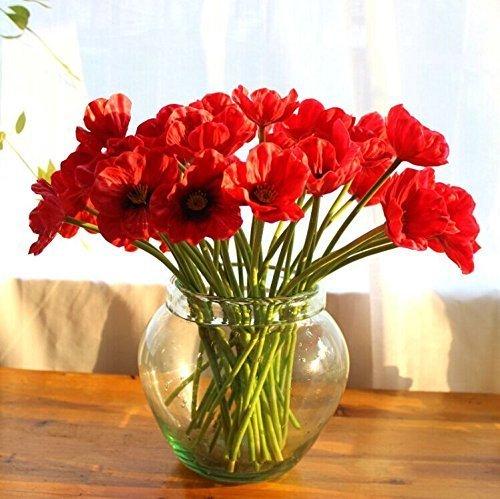 Uteruik Künstliche Mini Latex Mais-Party Dekorative Seide Fake Künstliche Mohnblumen für Hochzeit Holidy Brautstrauß Home Party Decor Brautjungfer Blumensträuße (10 Stück)