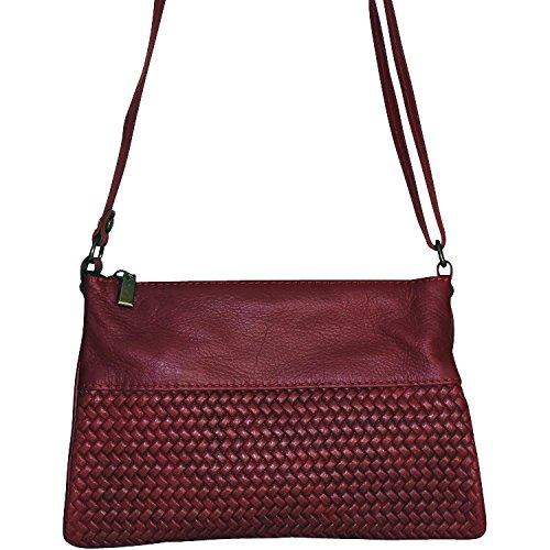 Chapeau-tendance - Pochette cuir Rouge Nina - - Femme