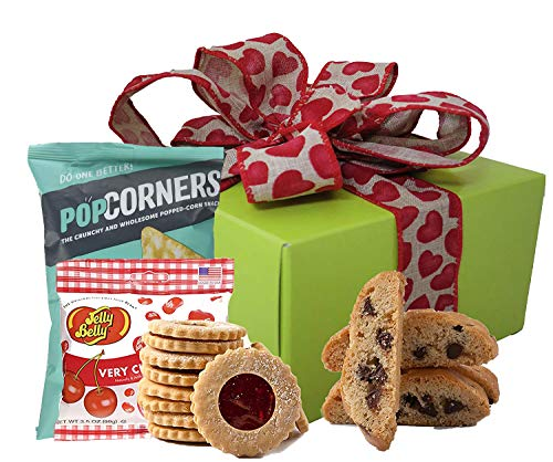 Valentine's Day Holiday Gift Box | Gift Baskets Gluten Free with Gourmet Cookies Sweets Healthy Snacks and Nuts | Prime Valentines Day Gifts Girlfriend, Boyfriend, Husband and Wife (Large Box)