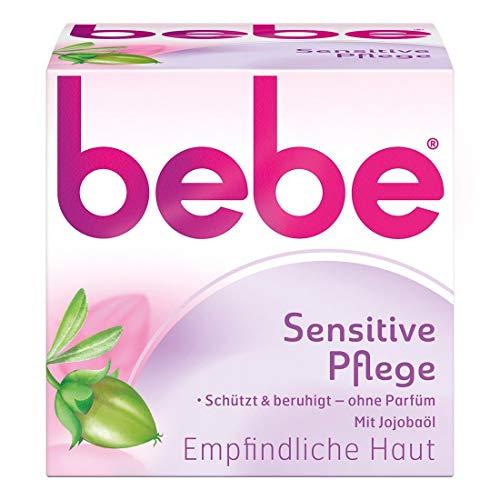 bebe Sensitive Pflege - Beruhigende Feuchtigkeitscreme für empfindliche Haut mit Jojobaöl - 50ml