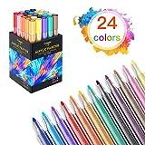 Daxoon - Rotuladores acrílicos (24 colores, acrílico, resistente al agua, para cerámica, vidrio, lienzo, etc.