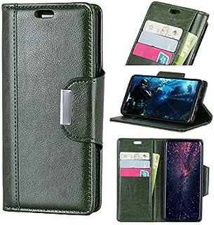 の Vodafone Smart N8 シェル, [余分な カード スロット] Happon [財布 シェル] PU レザー TPU ケーシング 贅沢 [ドロッププロテクション] カバー の Vodafone Smart N8, Green