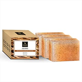 Good Vibes Liquorice Brightening Handmade Soap Bar (Pack of 3) - 100g x 3
