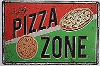 ピザゾーンティンサインレストランキッチンティンサイン