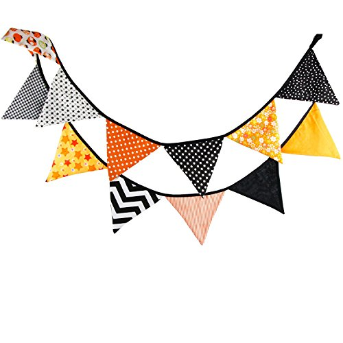 Banderines de tela para fiestas, cumpleaños, aniversario de boda o bautizos, multicolor