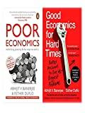 Combo of Two Books Good Economics for Hard Time and Poor Economice