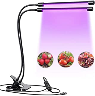 Uonlytech 40LEDs Plant Growth Light Greenhouse Plant Vegetable Growing Lamp 2 Heads Flower Seedling Growing Lamp USB Plant...