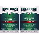 Domeboro Medicated Soak Rash Relief (Burow's Solution), 12 Powder Packets (Pack of 2)