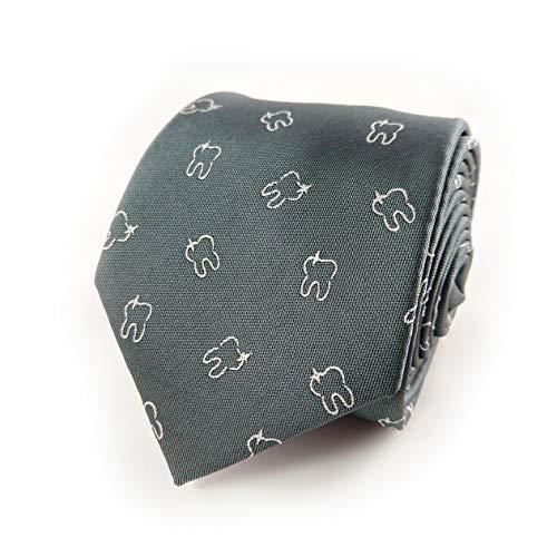 Dentist Necktie - Men's Dentist Necktie - Dentist Tie - Tooth Necktie - Teeth Necktie - Orthodontist Necktie - Dentist Gift - Gift for Dentist - Oral Hygienist Gift