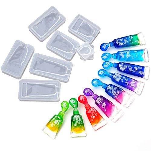 Musykrafties Gepresst Zahnpasta Casting Silikon Formen Set 4-count für Epoxy, UV Harz, Polymer Clay, Beton, Zement, Candy, Schokolade, Isomalt