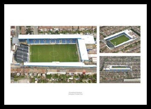 Gillingham FC Framed Priestfield Stadium Aerial View Photo Memorabilia