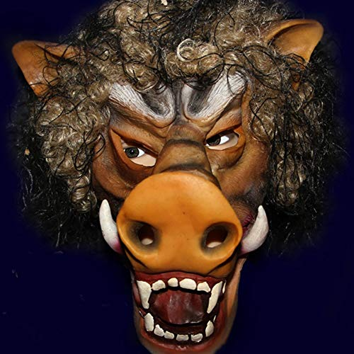 Dajie Kopf PVC Maske, Neuheit Halloween-Kostüm-Partei PVC-Kopf-Kostüm, Horror Orc Kopfmaske, Cosplay Maske (Wildschwein)