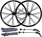 Ruedas Llantas de bicicleta de aleación de aluminio de 26 pulgadas, Bicicleta de montaña Pasta de ruedas de doble pared Freno de discos de doble pared Rueda Rueda trasera Rueda frontal Palin Rodamient