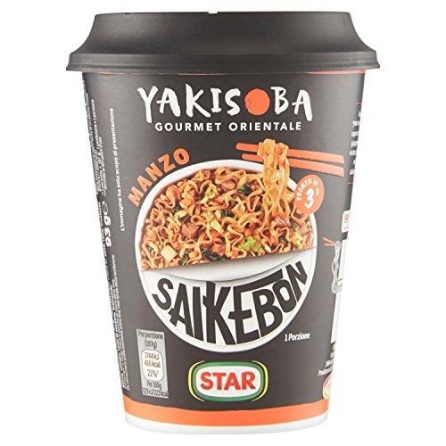 Star - Yakisoba Saikebon Manzo - 4 confezioni da 93 g [372 g]