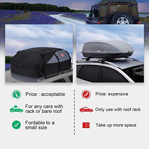460L// 1000D Sailnovo Cofre Techo Coche Portaequipajes Coche Techo Maleta Techo Coche Plegable Impermeable Resistente 560 litros
