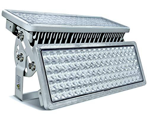 LED Strahler Flutlichter LED 200W 20000lm Superhell Strahler Außen 6500K Außenstrahler IP67 Wasserfest Flutlichtstrahler 2 Fluter können den Winkel frei einstellen