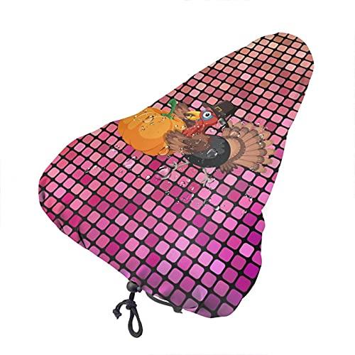 Bong6o Funda para asiento de bicicleta de gel de polvo unisex extra suave, duradera, impermeable, para Acción de Gracias