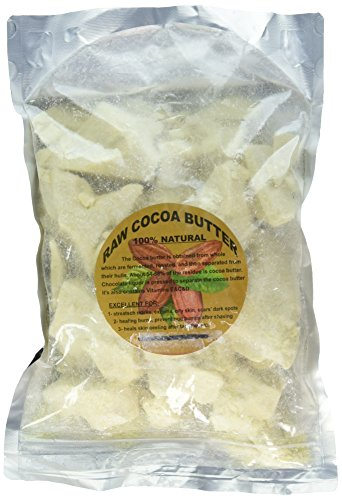 PRIME & PURE Raw Cocoa Butter - 100% Fresh 2 LB