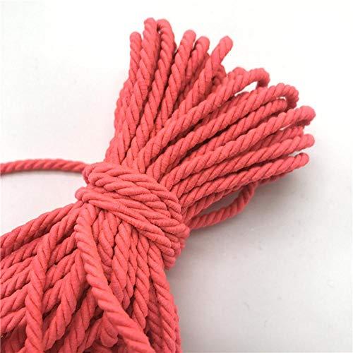 WEDSA Cuerda de Paracord de 10 Yardas, Cuerda de Polipropileno de 3 Hilos de 5 mm, Accesorios de decoración del hogar, Cuerda para Pulsera, decoración rústica para el hogar-12