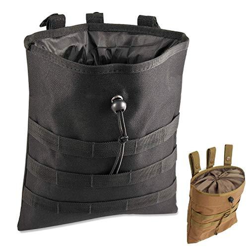 Gexgune Molle System Taktische Molle Dump Magazintasche Jagd Recovery Bag Drop Pouch Military Zubehör (Schwarz)