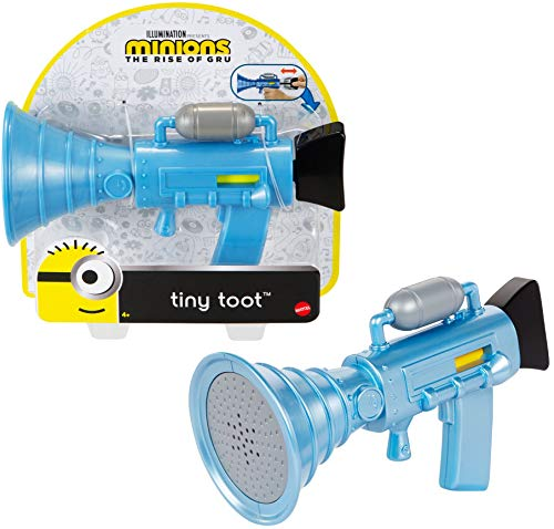 Mattel Minions Tiny Toot Small Fart Firing Blaster Toy with Toot Sound for Fun On-The-Go, Makes a Great Gift for Kids Ages 4 Years and Older.