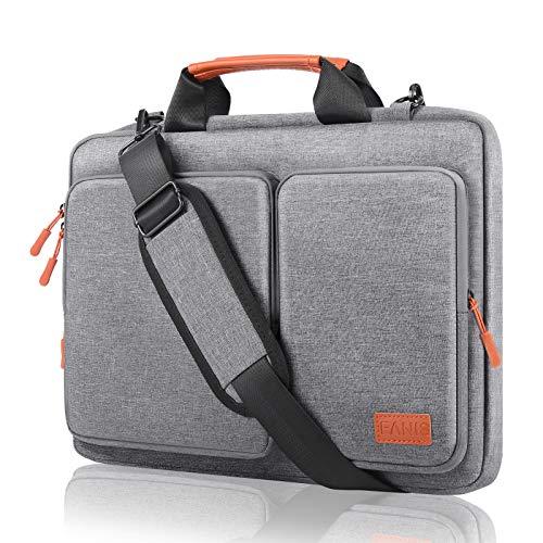 FANIS 15,6 Pollici Borsa Porta PC, Borsa a Tracolla per Laptop Impermeabile e Antiurto Progettata per i Professionisti Compatibile con MacBook PRO da 15,6 Pollici, dell XPS, Surface