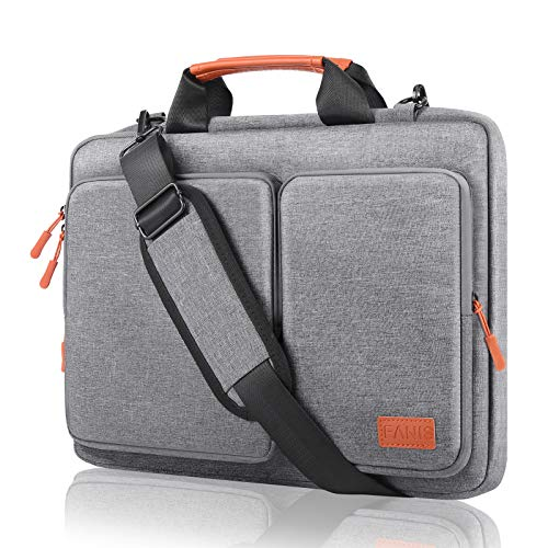 FANIS 14 Inch Laptop Sleeve Briefcase, Waterproof & Shockproof Shoulder Bag, Business Messenger Bag Designed for Professional Compatible with 13.3 inch New MacBook Pro, Protective Bag with Handle