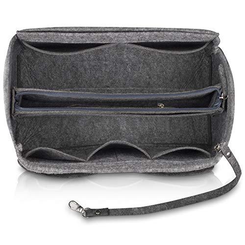 umatter ® Handtaschen Organizer aus Filz mit Schlüsselanhänger und Sicherheitsfach - Ideal als Taschenorganizer baginbag der Handtasche, Bag Organizer (Grau, M)