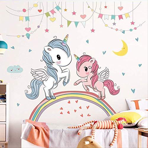 Meisjes kamer siert prinses nachtkastje Stickers hele kinderen Sticker Cartoon schattig grote muur