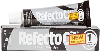 RefectoCil Cream Hair Dye (PURE BLACK) .5oz by RefectoCil