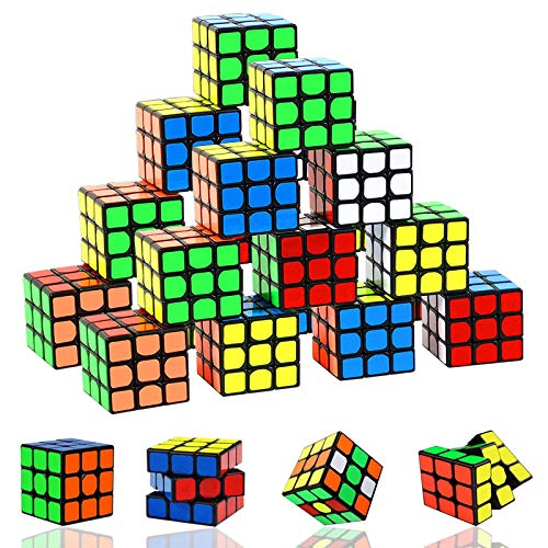 Mini Cube Puzzle Party Favors for Kids, 24 Pack Magic Cube Brain Teaser...