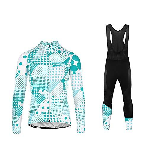 UGLYFROG Bike Wear Invierno Fleece Ciclismo Sets Maillot Mujers Jersey Culotte Pantalones Largos Maillot para Deportes al Aire Libre Ciclo Bicicleta