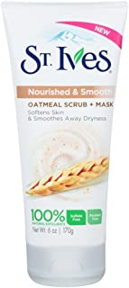 St Ives Scrub Oatmeal Facial Mask, 6 Ounce (2 Pack)