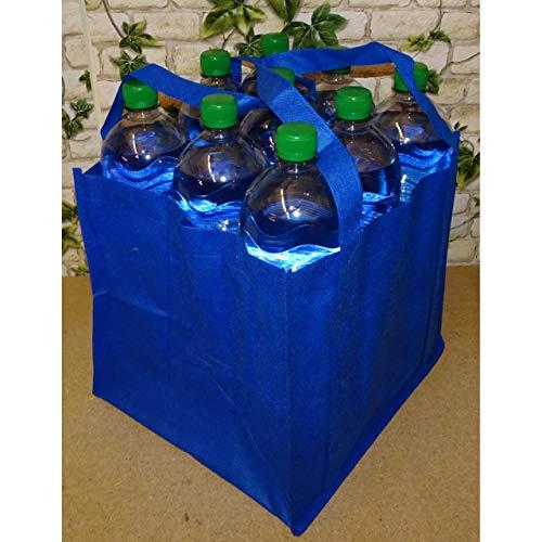 1a-becker Flaschenträger für 9 Flaschen Tragetasche Bottlebag Flaschentasche Tasche blau