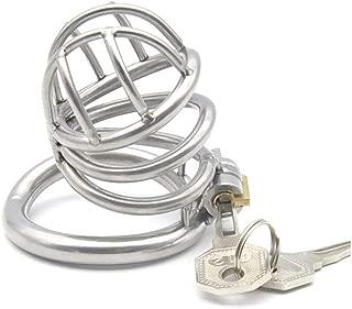 Chástí-ty Device, Cǒck Lock, Pěnǐs Lock Ring Men Hypoallergenic Stainless Steel Metal Chasteness Device Anti-Off T-Shirt Belt - 31 (Size : 45mm)