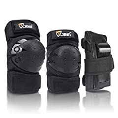 Made of durable, soft EVA padded material with tough plastic plates The most popular protection for skating and other activities Multiple adjustable elastic straps fit for various knee girths Appropriate for inline skating and riding bikes and scoote...