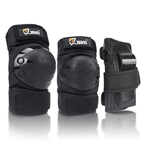JBM Adult/Child Knee Pads Elbow Pads Wrist Guards 3 in 1 Protective Gear Set for Multi Sports...