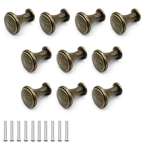 Dylan-EU 10 Stück Retro Schubladengriffe Küchenknöpfe Moebelknauf Pull Handle für Schrank Küche Kommoden - Bronze