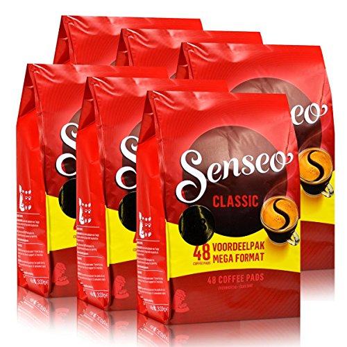 Senseo Kaffeepads Klassisch, Intensiv & Vollmundig, neues Design, 6 x 48 Pads, 288 Portionen