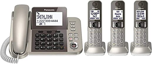 PANASONIC Corded/Cordless Phone System with Answering Machine and One Touch Call Blocking..