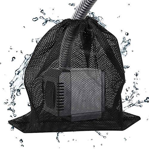Tasche für Pumpe, Netztasche für Wasserpumpe, aus Netzgewebe mit Kordelzug, Filterbeutel für Teichpumpe, Anti-Verstopfung für Garten und Aquarium, 2 Stück., Einheitsgröße