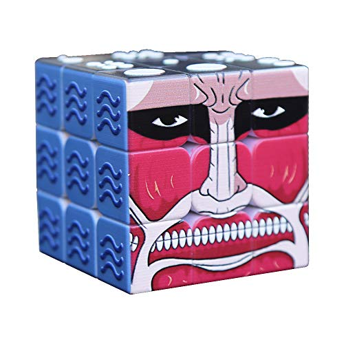 Speed Cube 3x3x3 3D Relief Effect Braille Magic Cube Puzzle,IQ Games Puzzles Special for Blind, 5.6cm