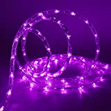 Twinkle Star LED Rope Lights Halloween Outdoor, 33 FT 240 LED, Low Voltage, Connectable Indoor Outdoor Garden Patio Party Weddings Christmas Decoration, Purple