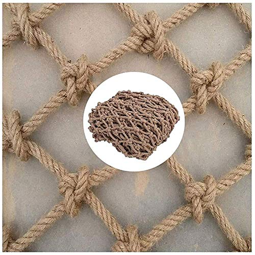 'N/A' Rope Net For Playground, Treehouse Climbing Birds Nets Child Safety Netting Heavy Hemp Rope Cargo Net Protection Fence Decor Nets Outdoor Patios Railings Stairs Balcony(Size:3 * 4m(10 * 13ft))