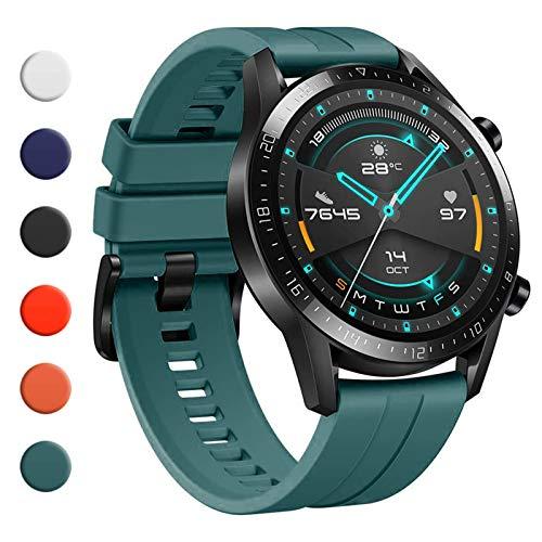 YHC Correas para Huawei Watch GT2/GT2 Classic/GT2 Pro 46mm,Compatible con Huawei Watch GT 2e/GT Sport Active 46mm