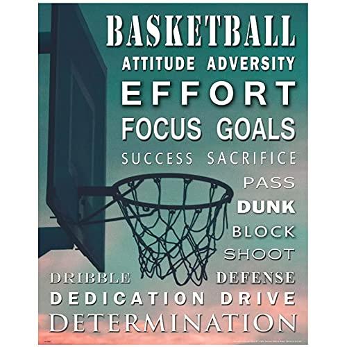 Póster de impresión de arte motivacional de baloncesto para la decoración de la pared de su hogar Imágenes Impresiones en lienzo Arte de pared-Opciones de varios tamaños (enmarcado/sin marco)