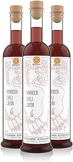 TROPFEN KONTOR Himbeer Chili Likör 1,5 l 3x 0,5 l Fruchtschnaps Himbeerlikör 25% vol. Alkohol Obstschnaps Beeriger Fruchtlikör Schnaps