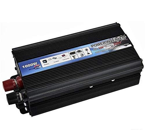 ZLZH Vehículo Inverter 1000W Voltage Converter 12V 24V DC A 220V 230V CA Converter 1 Socket - Convertidor de inversor sinusoidales Puro con Puertos USB y Power Power 2000 W (Size : 24Vto220V)